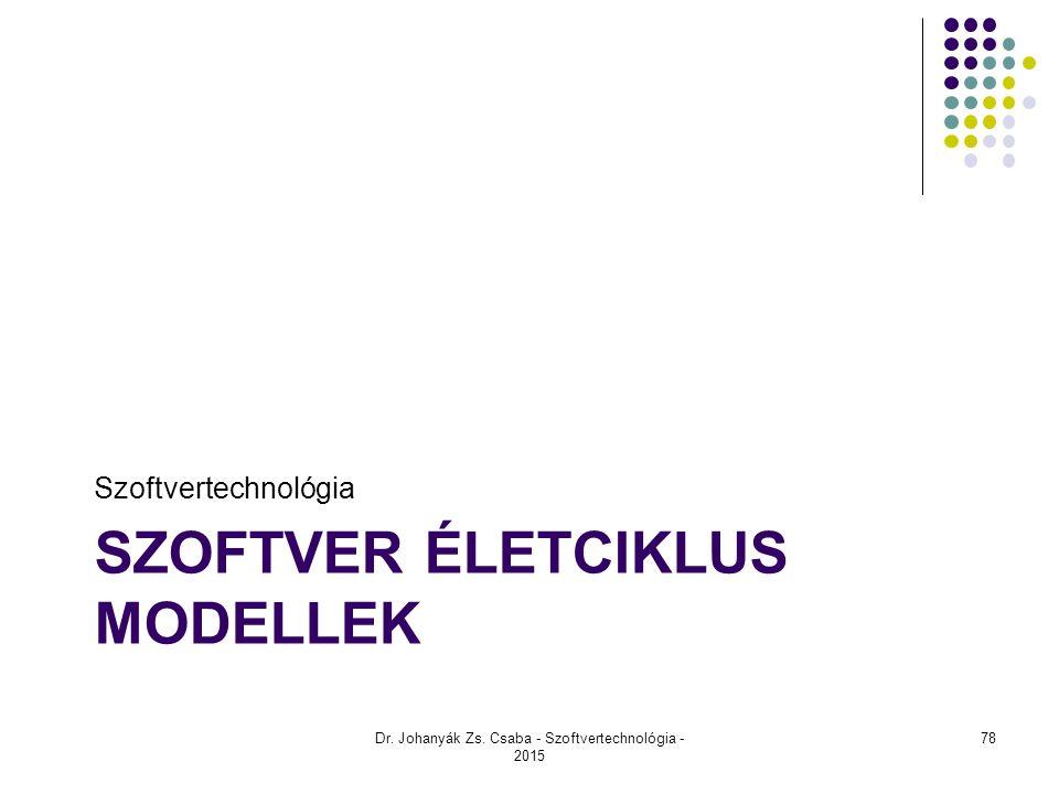 Szoftver életciklus modellek