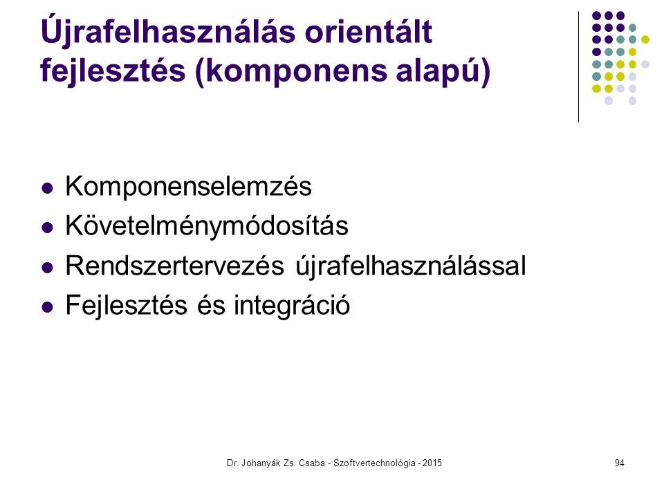 Újrafelhasználás orientált fejlesztés (komponens alapú)
