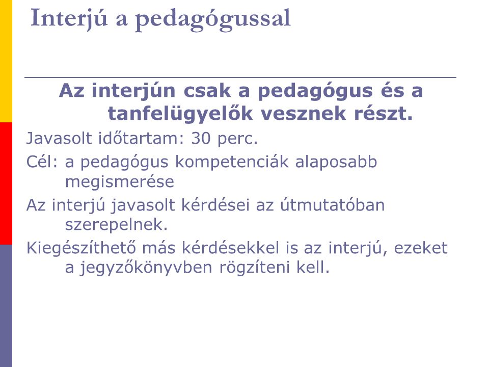 Interjú a pedagógussal