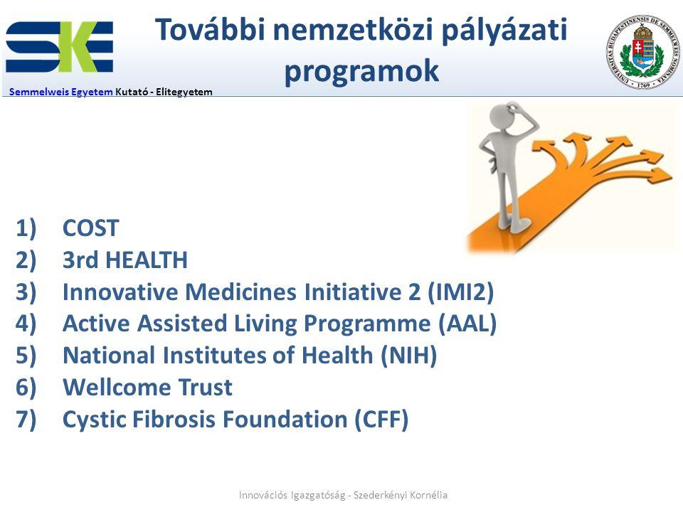 További nemzetközi pályázati programok