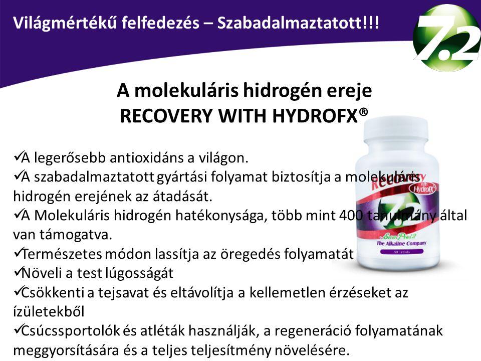 A molekuláris hidrogén ereje RECOVERY WITH HYDROFX®