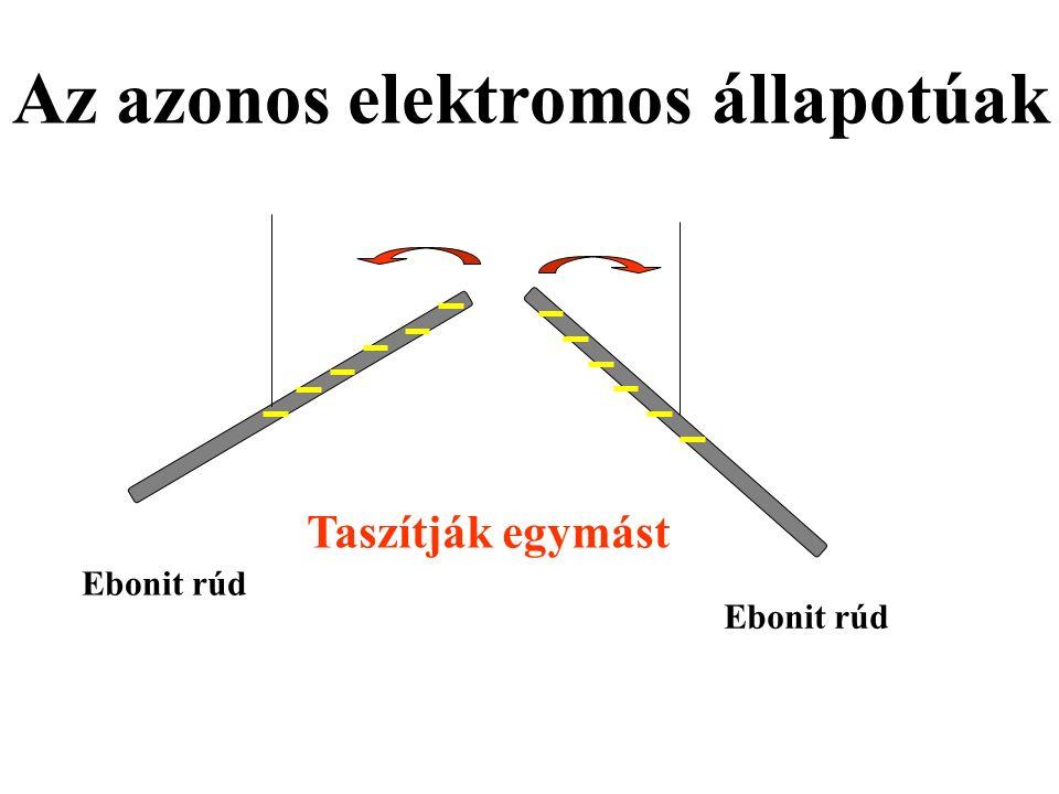 Az azonos elektromos állapotúak