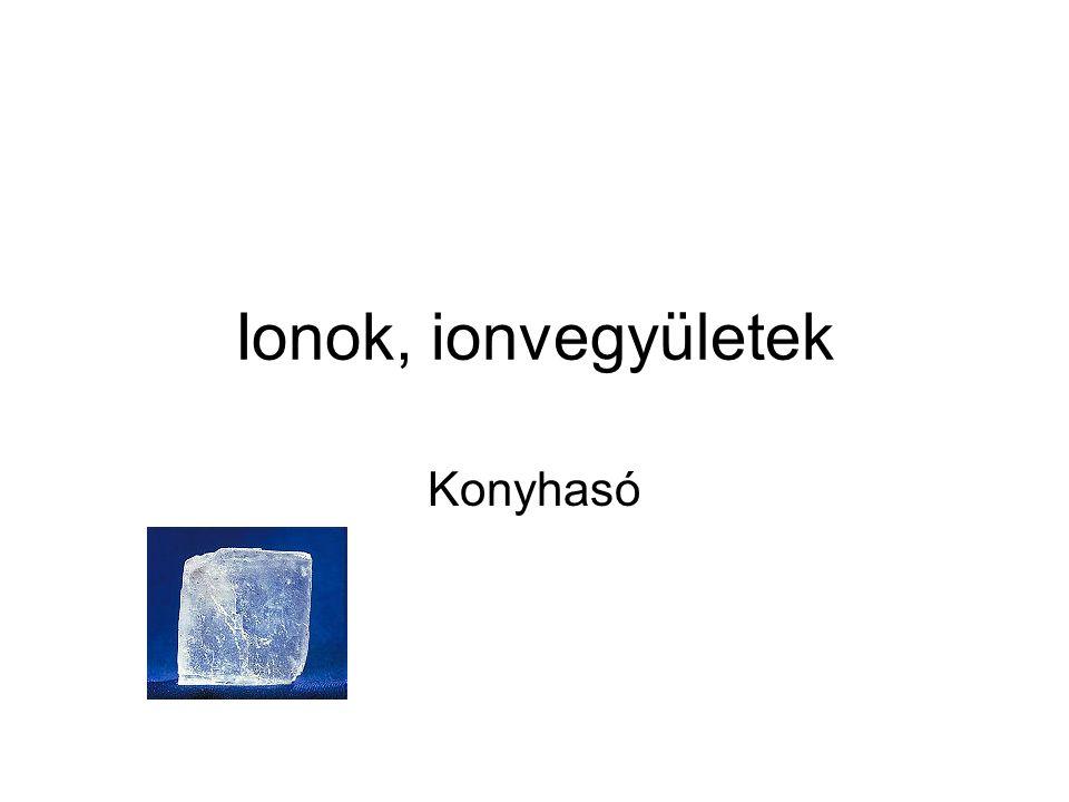 Ionok, ionvegyületek Konyhasó