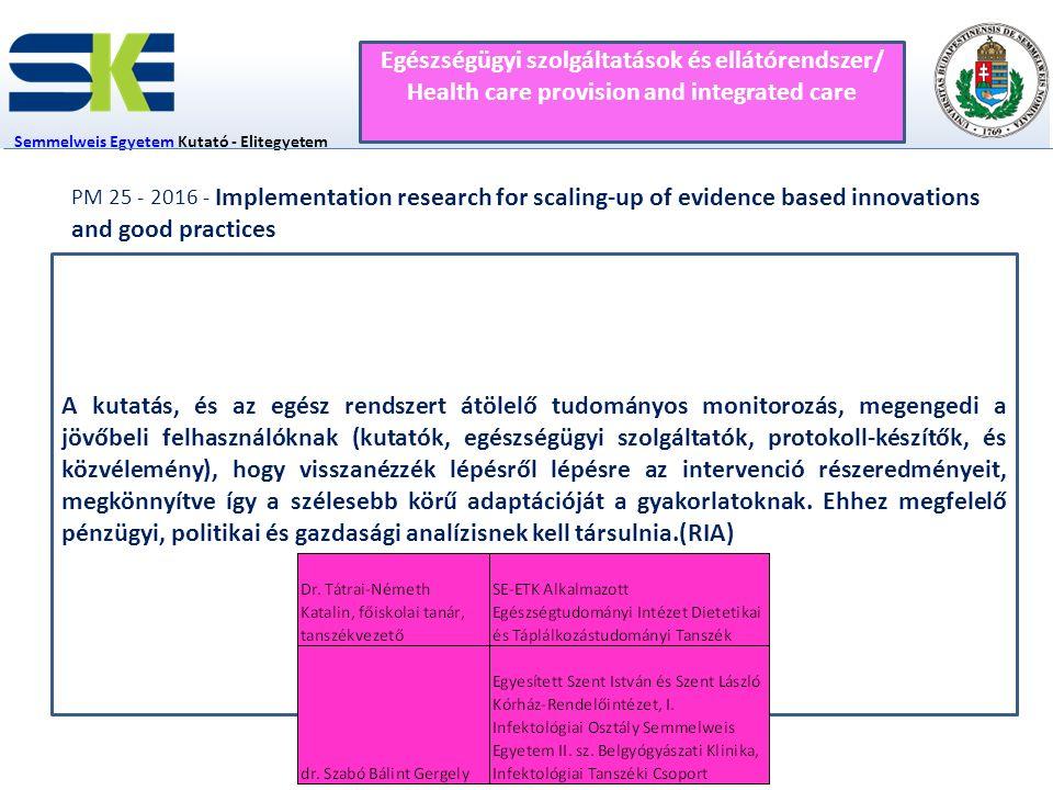 Egészségügyi szolgáltatások és ellátórendszer/