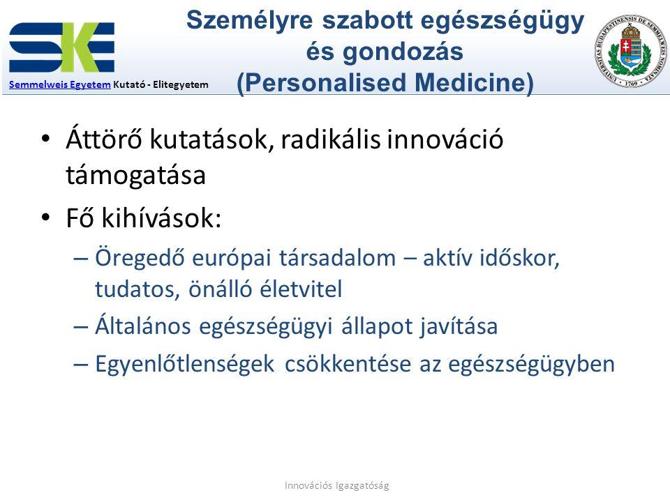 Személyre szabott egészségügy és gondozás (Personalised Medicine)