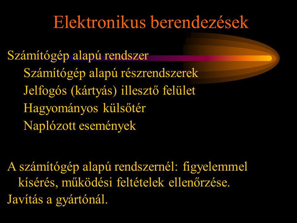 Elektronikus berendezések