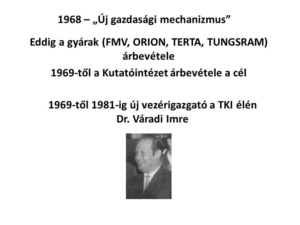 """1968 – """"Új gazdasági mechanizmus"""