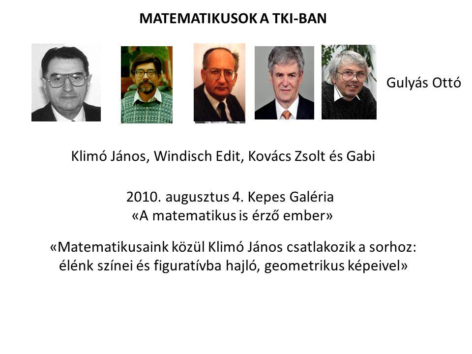 MATEMATIKUSOK A TKI-BAN