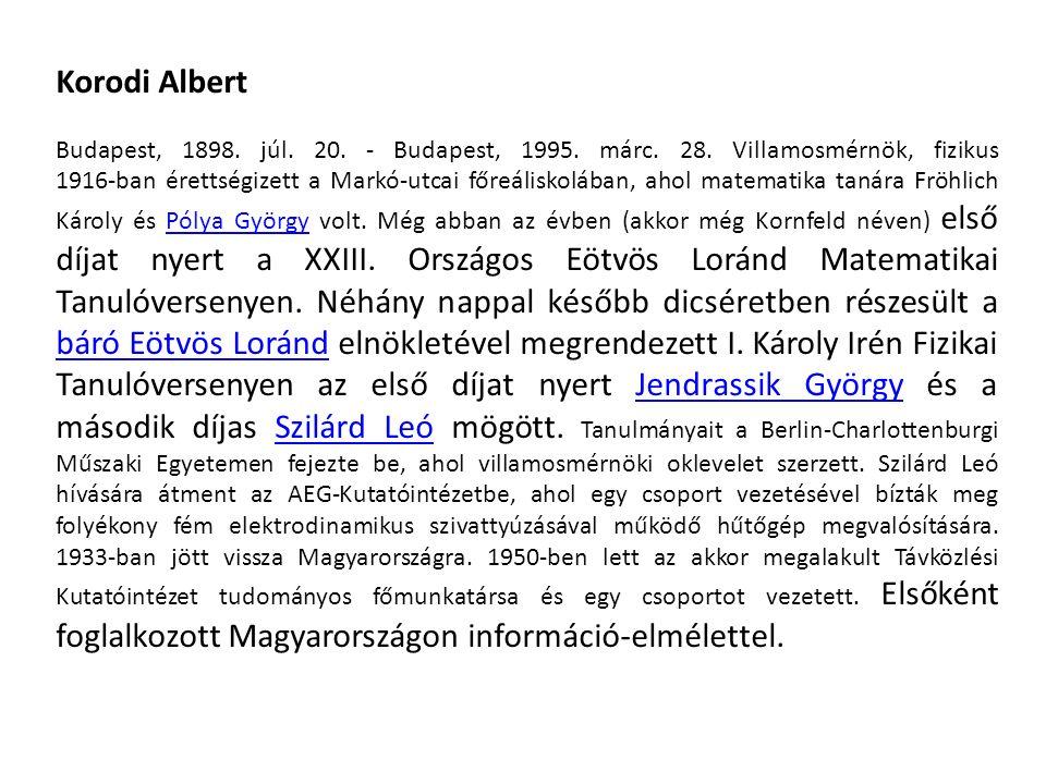 Korodi Albert