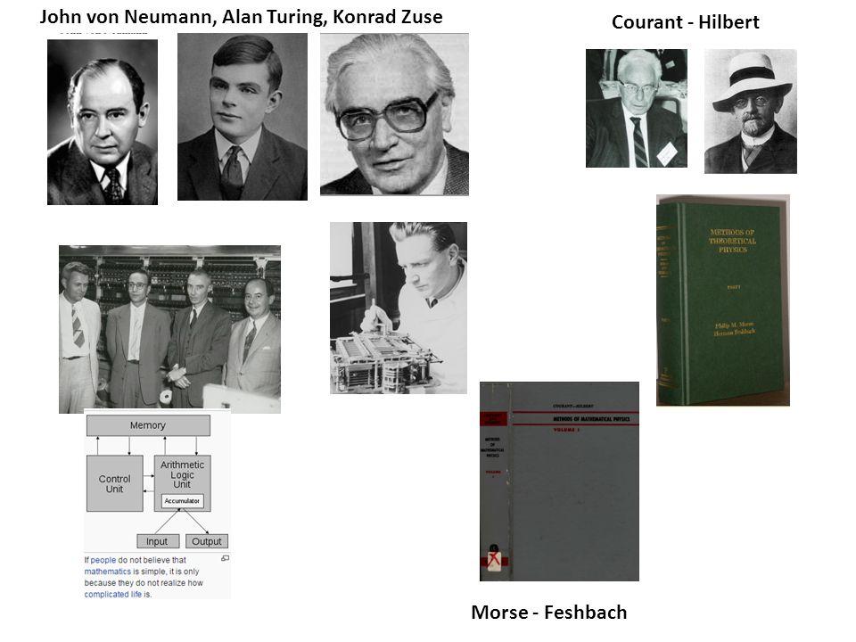 John von Neumann, Alan Turing, Konrad Zuse