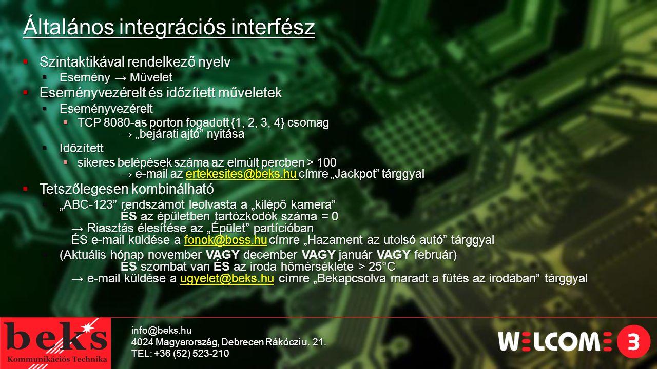 Általános integrációs interfész