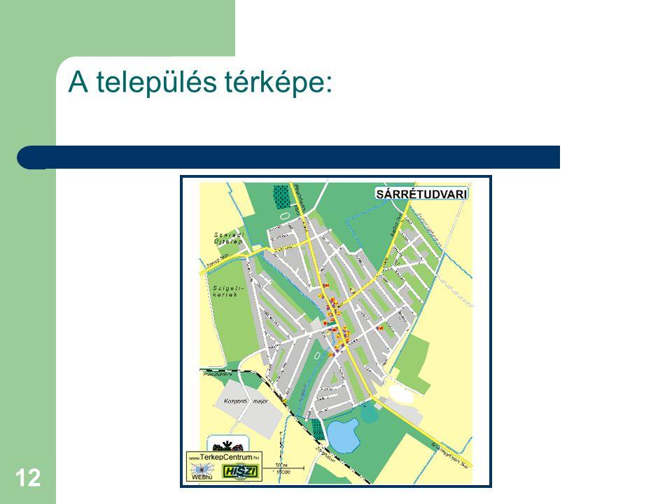 A település térképe: