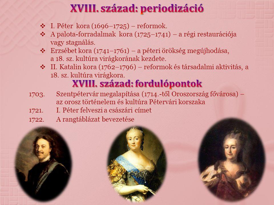 XVIII. század: periodizáció