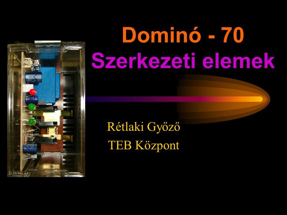 Dominó - 70 Szerkezeti elemek