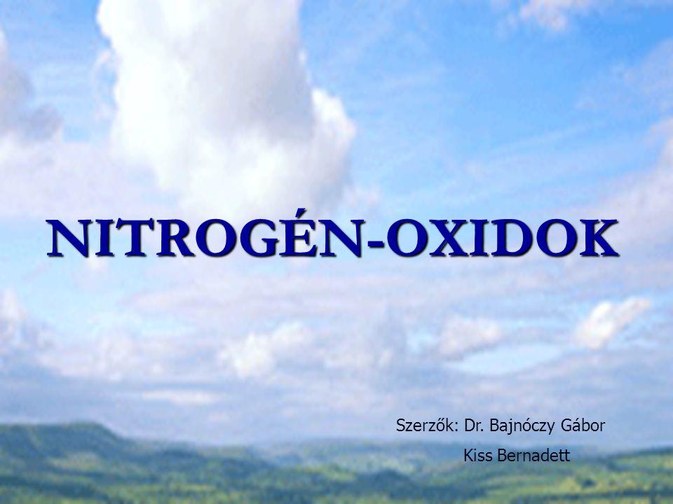 NITROGÉN-OXIDOK Szerzők: Dr. Bajnóczy Gábor Kiss Bernadett