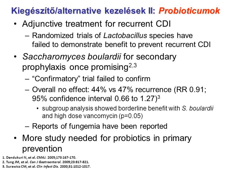 Kiegészítő/alternative kezelések II: Probioticumok