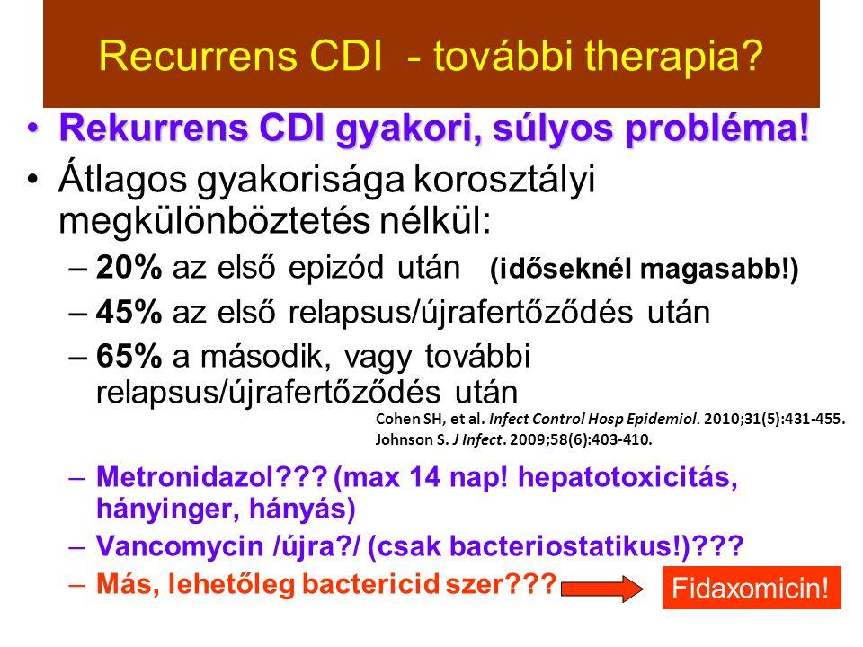 Recurrens CDI - további therapia