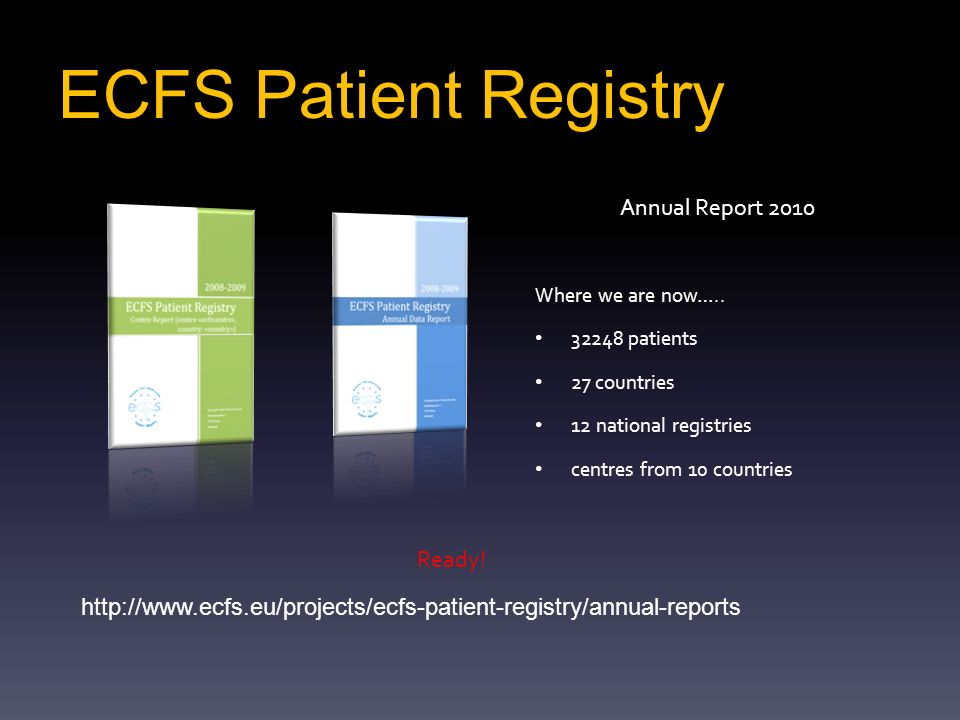 ECFS Patient Registry Annual Report 2010 Ready!