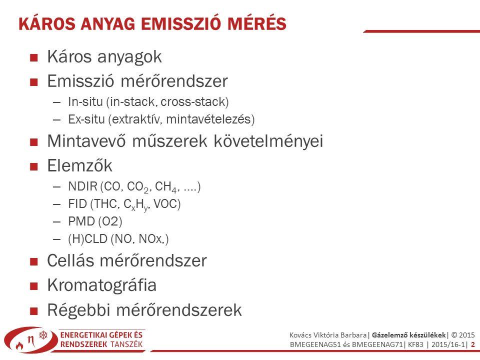 Káros anyag emisszió mérés