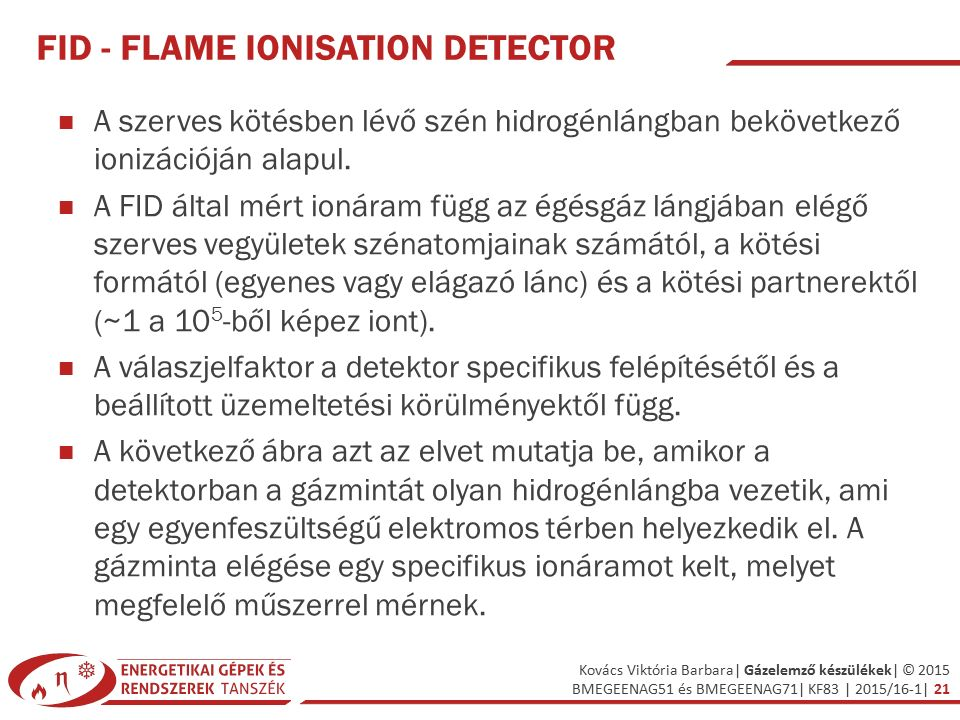 FID - Flame Ionisation Detector