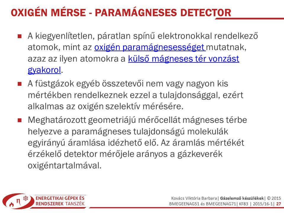 Oxigén mérse - Paramágneses detector