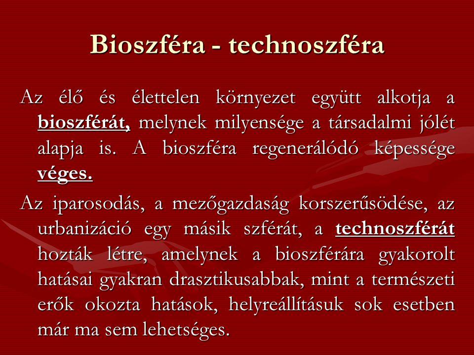 Bioszféra - technoszféra