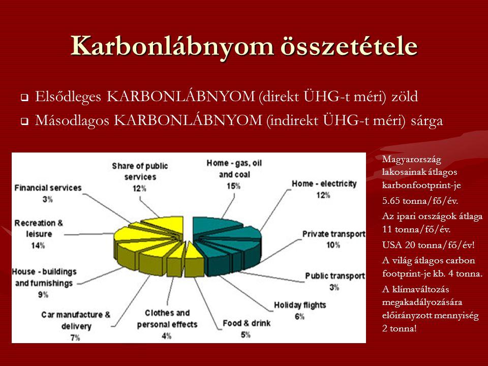 Karbonlábnyom összetétele