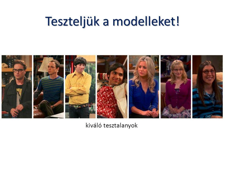 Teszteljük a modelleket!