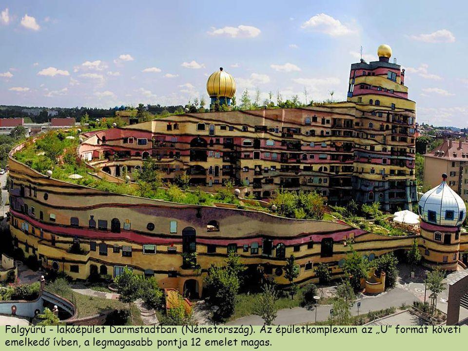 Falgyűrű - lakóépület Darmstadtban (Németország)