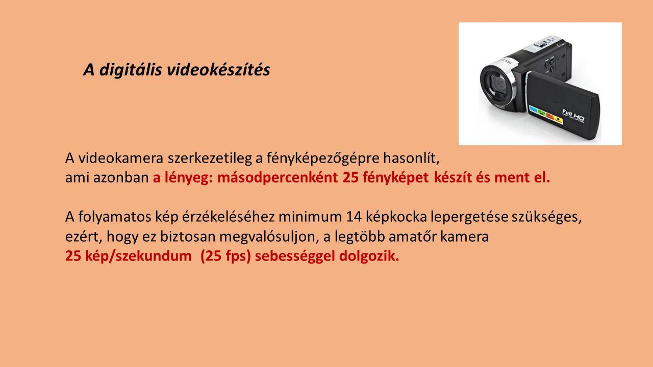 A digitális videokészítés