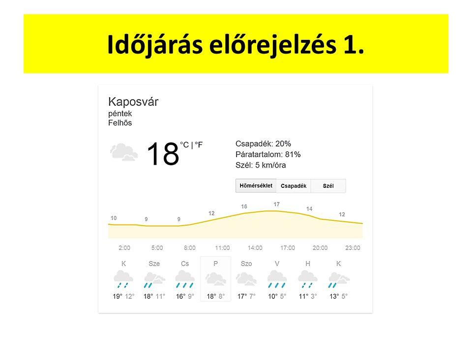 Időjárás előrejelzés 1.