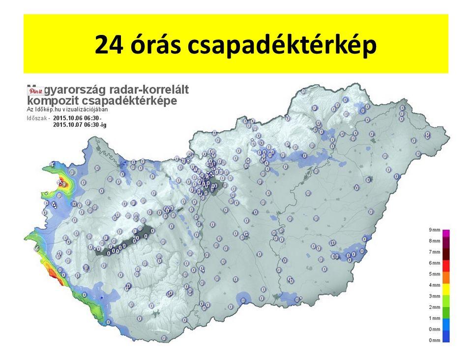 24 órás csapadéktérkép