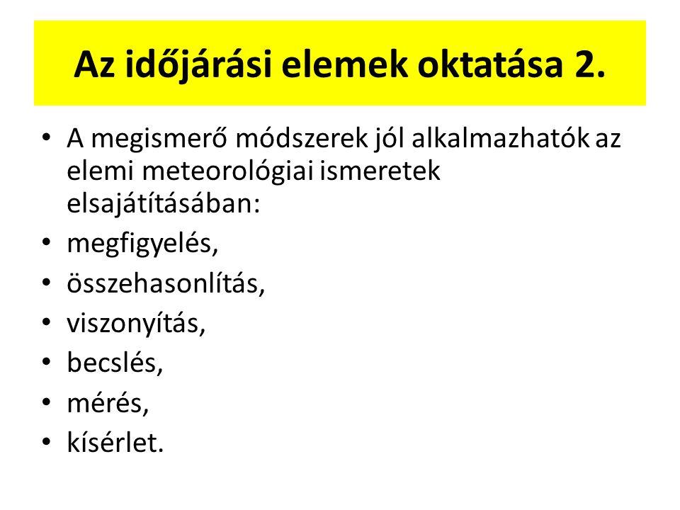 Az időjárási elemek oktatása 2.