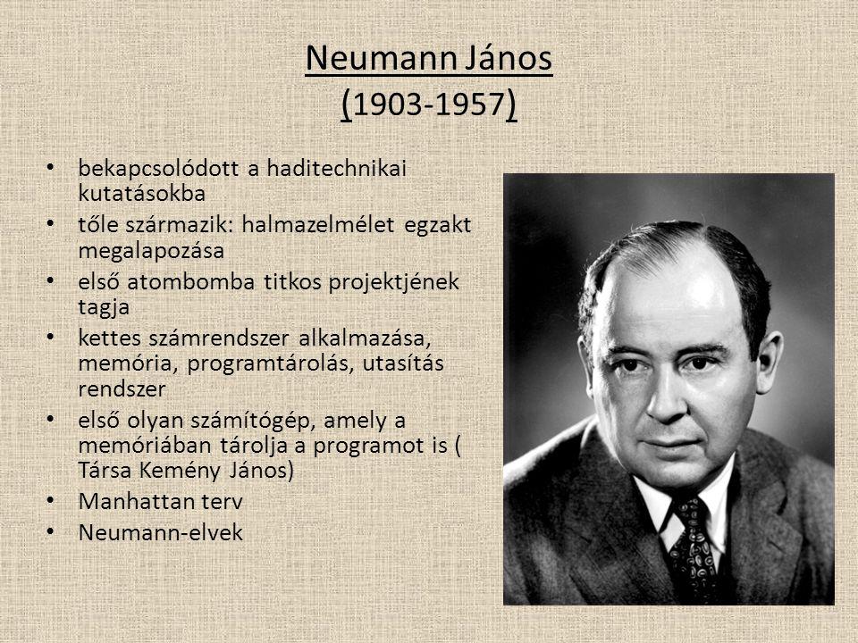 Neumann János (1903-1957) bekapcsolódott a haditechnikai kutatásokba