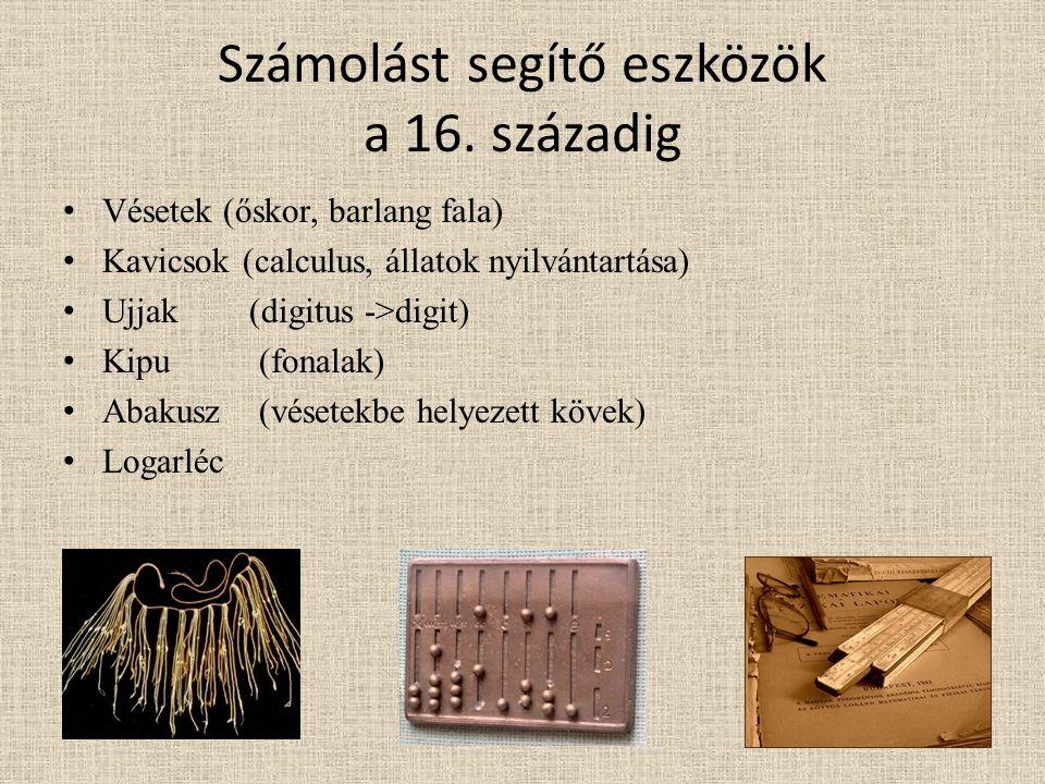Számolást segítő eszközök a 16. századig