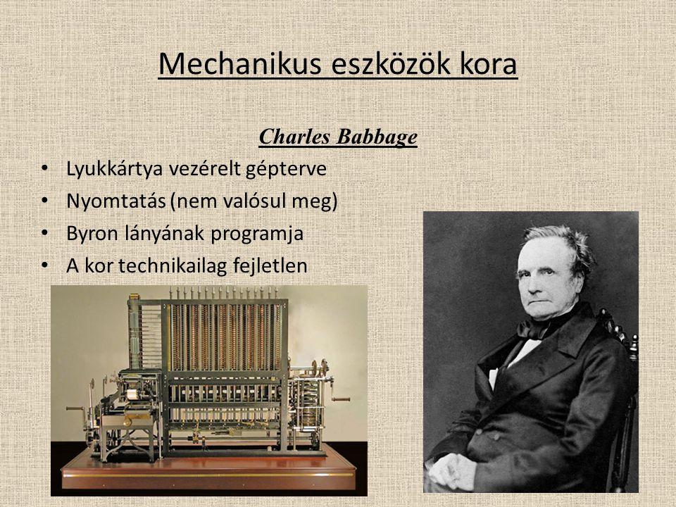Mechanikus eszközök kora
