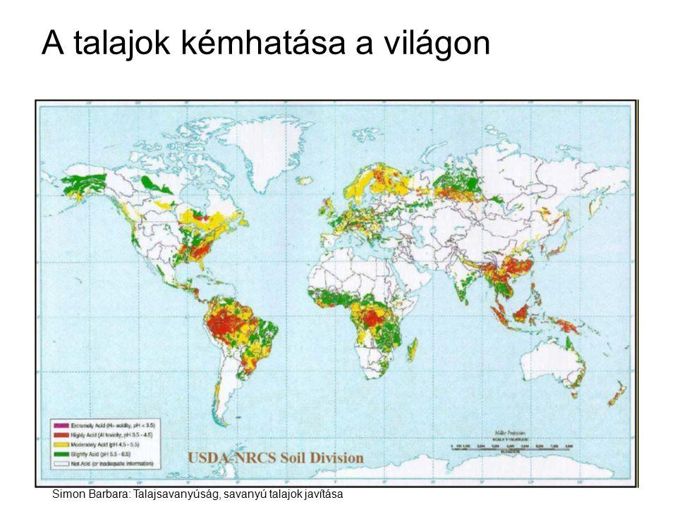 A talajok kémhatása a világon