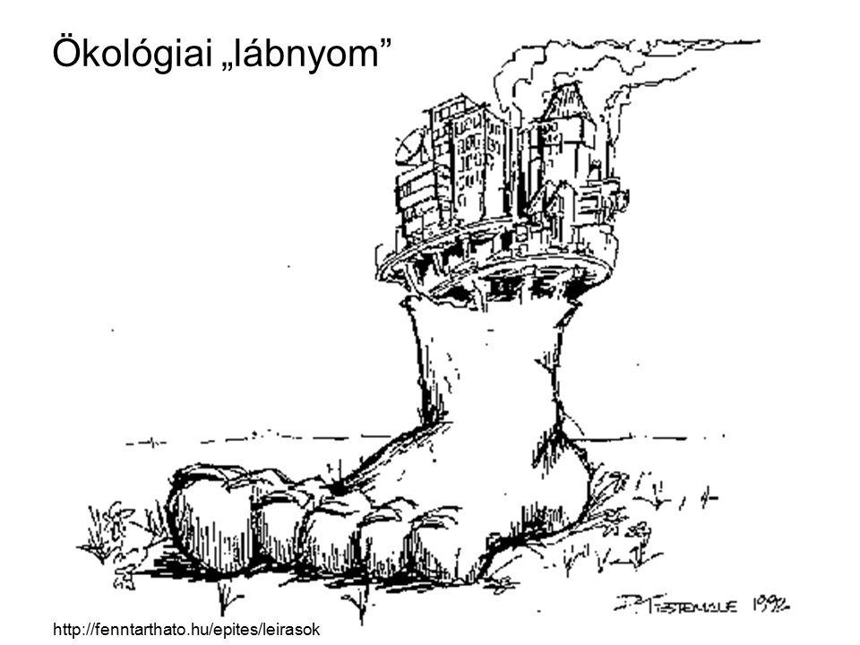 """Ökológiai """"lábnyom http://fenntarthato.hu/epites/leirasok"""