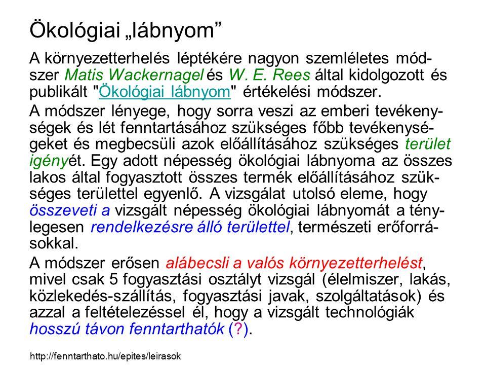 "Ökológiai ""lábnyom"
