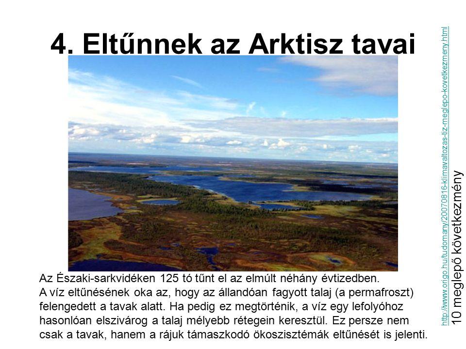 4. Eltűnnek az Arktisz tavai