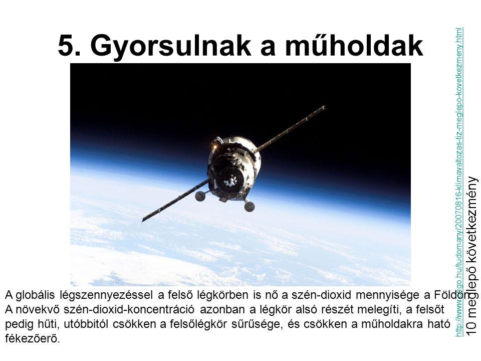 5. Gyorsulnak a műholdak 10 meglepő következmény