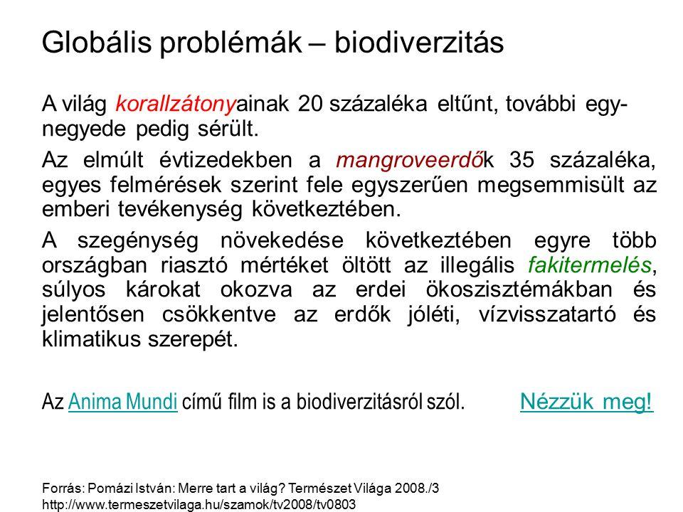 Globális problémák – biodiverzitás