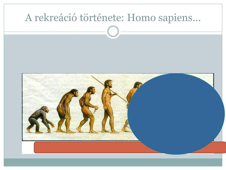 A rekreáció története: Homo sapiens...