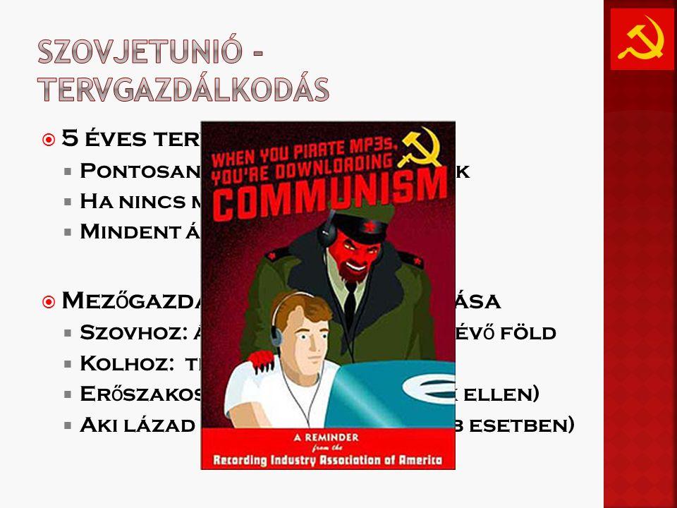 Szovjetunió - tervgazdálkodás