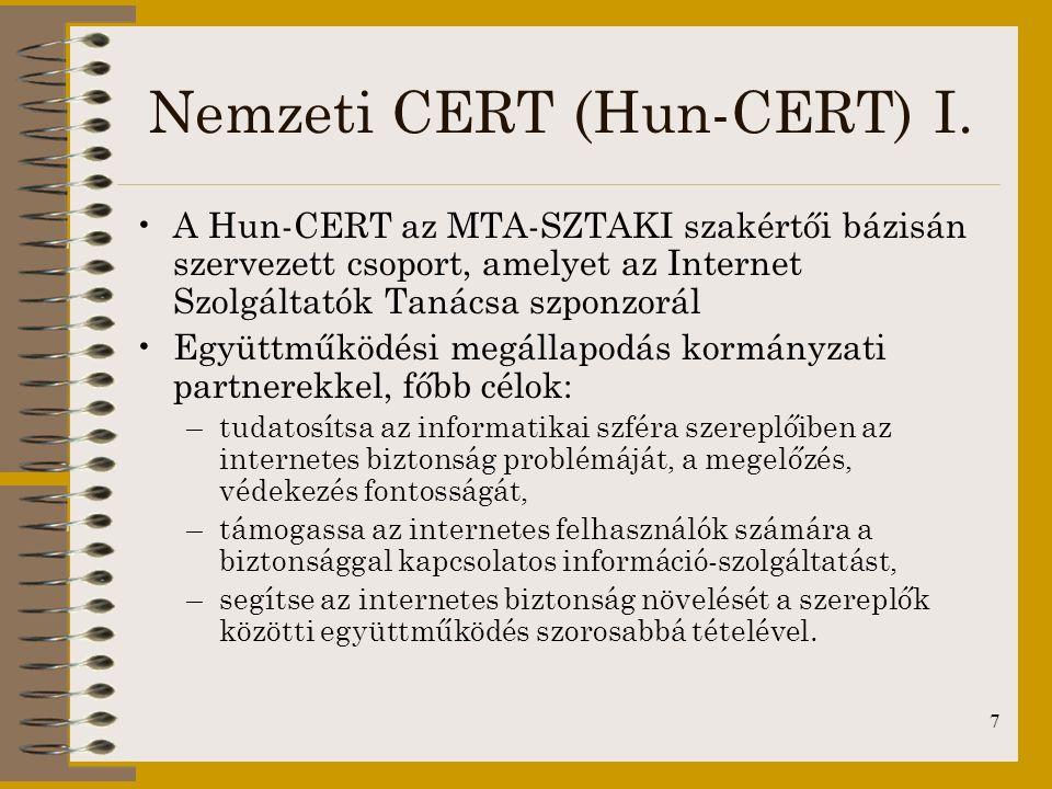 Nemzeti CERT (Hun-CERT) I.