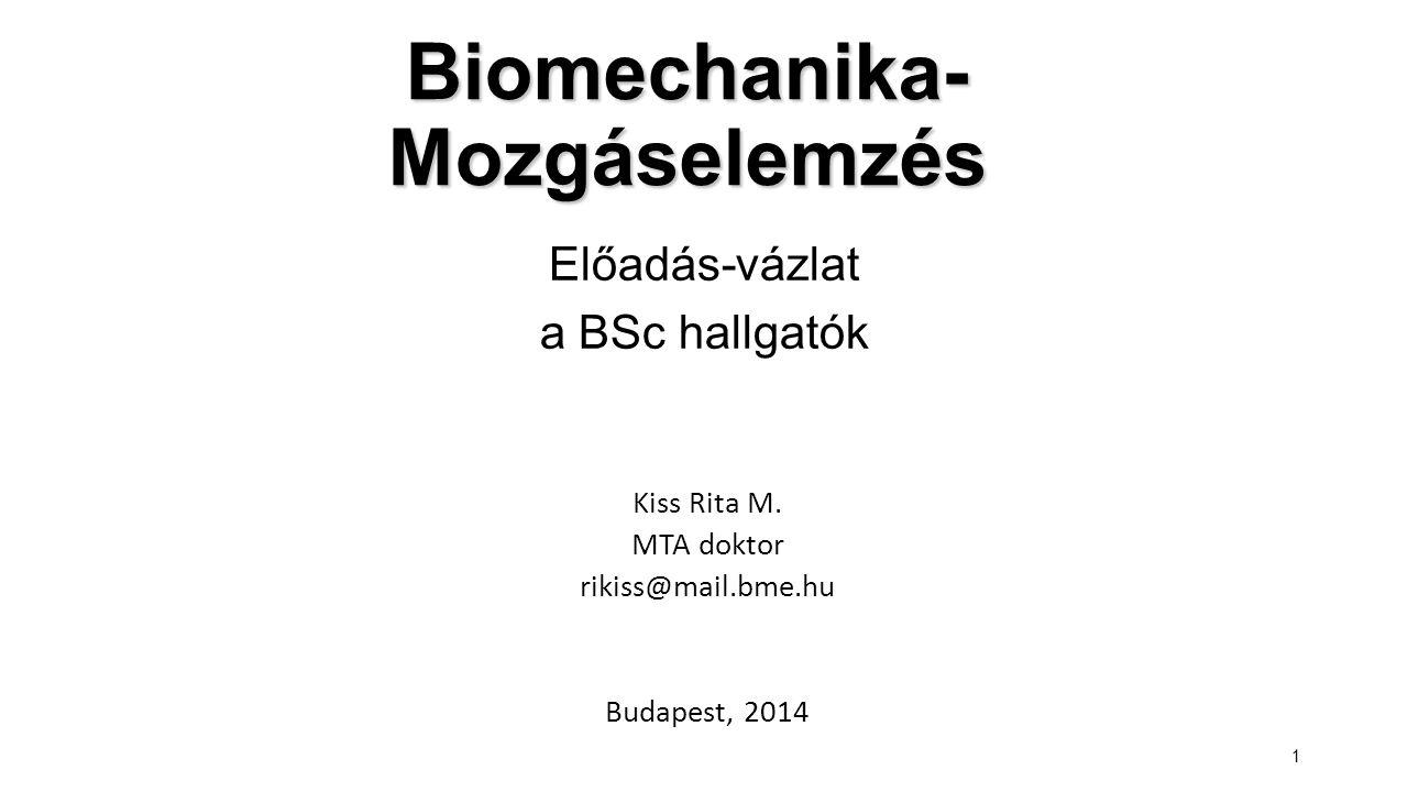 Biomechanika-Mozgáselemzés
