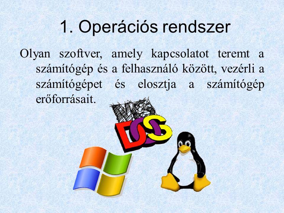 1. Operációs rendszer