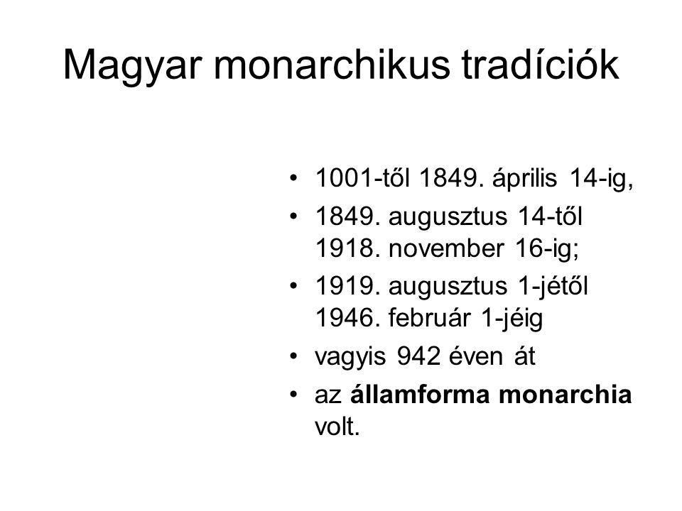 Magyar monarchikus tradíciók