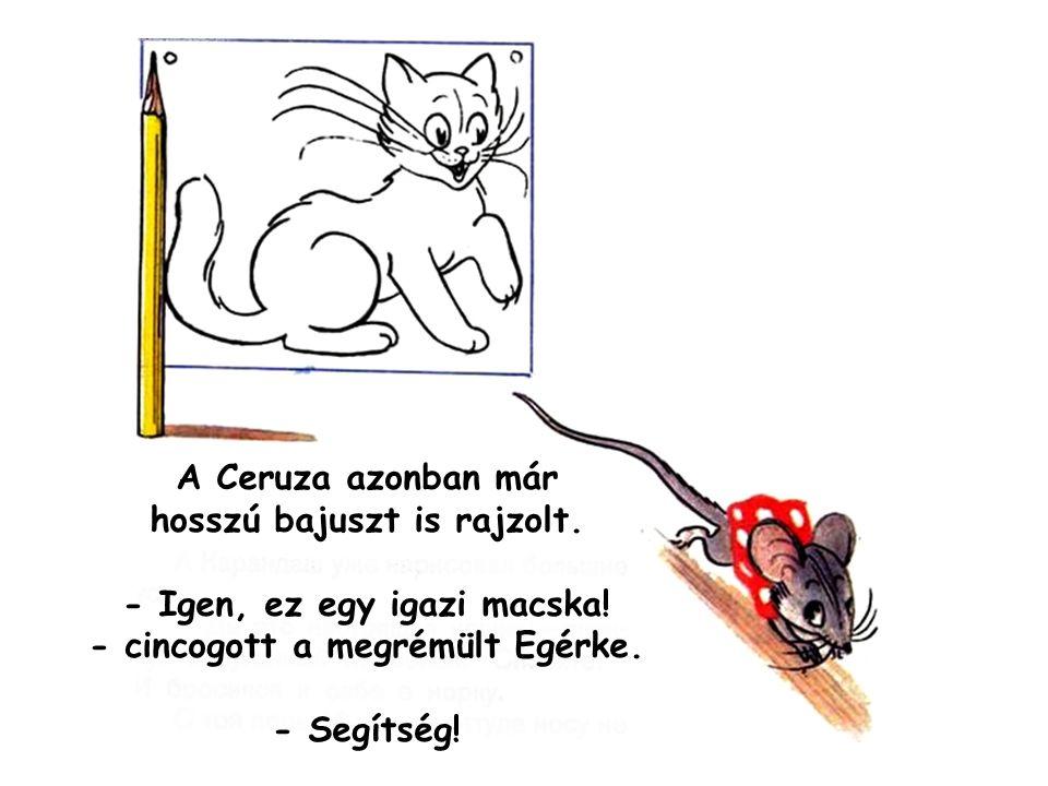 A Ceruza azonban már hosszú bajuszt is rajzolt.
