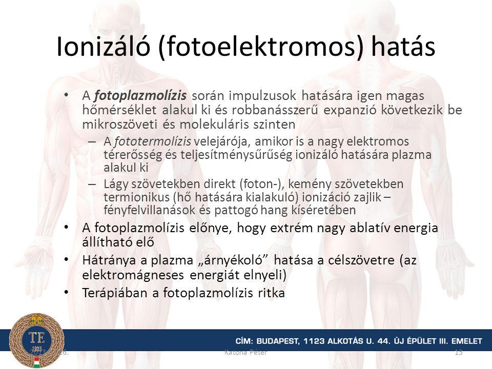 Ionizáló (fotoelektromos) hatás